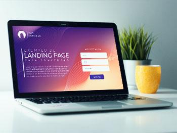{Landing pages} para captação de clientes
